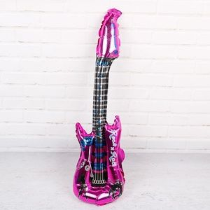 Pink Guitar Foil Balloon, Kid's Party Decor 🌸